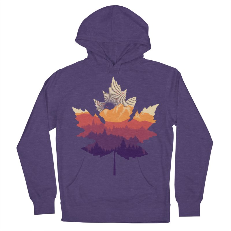 Leafscape Women's French Terry Pullover Hoody by Dianne Delahunty's Artist Shop