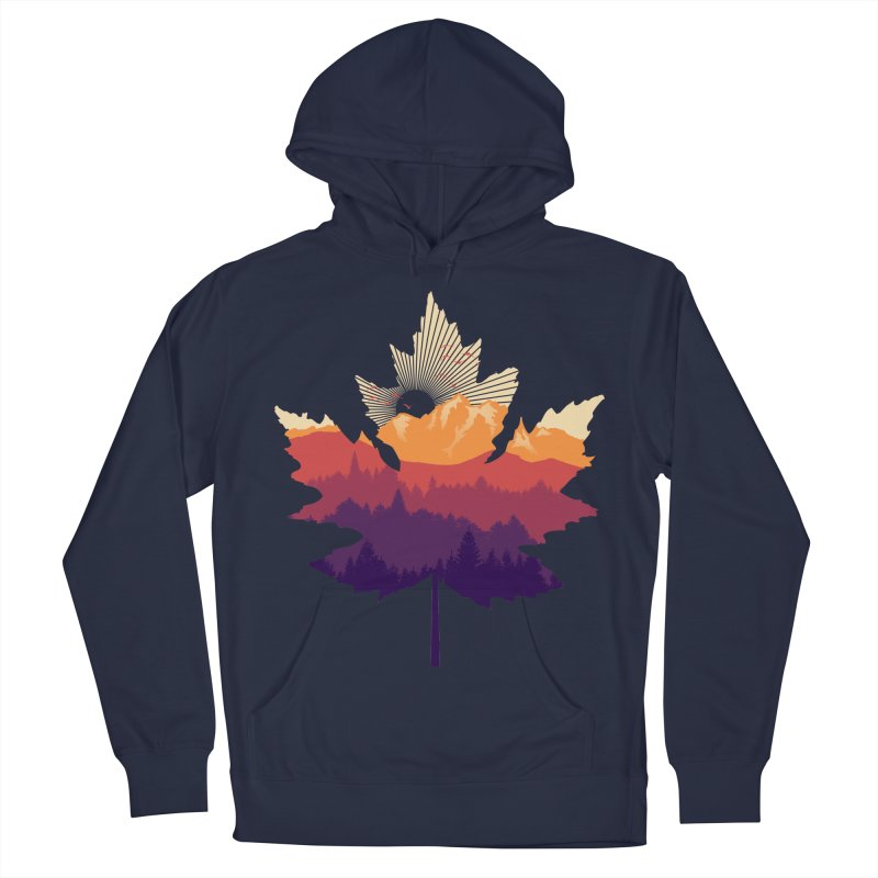 Leafscape Men's French Terry Pullover Hoody by Dianne Delahunty's Artist Shop