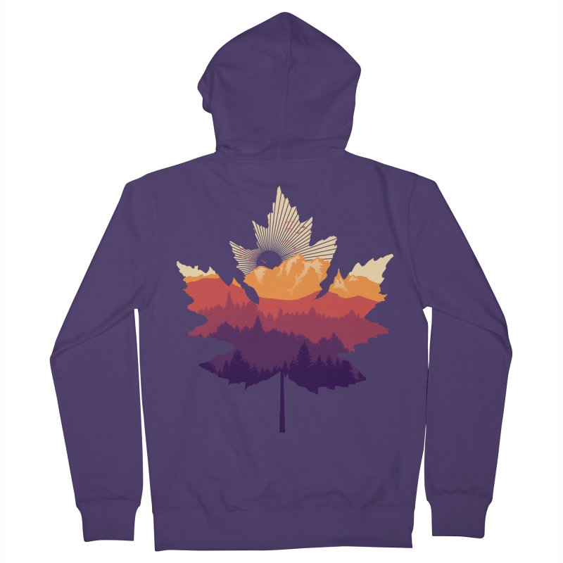 Leafscape Women's French Terry Zip-Up Hoody by Dianne Delahunty's Artist Shop