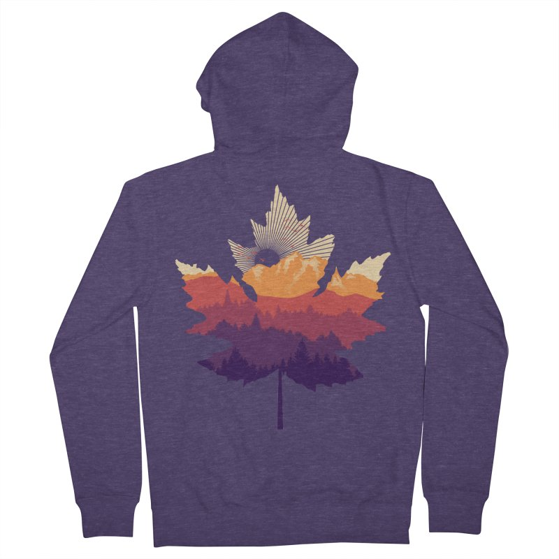 Leafscape Men's French Terry Zip-Up Hoody by Dianne Delahunty's Artist Shop