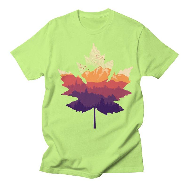 Leafscape Men's Regular T-Shirt by Dianne Delahunty's Artist Shop