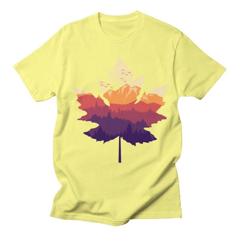 Leafscape Women's Regular Unisex T-Shirt by Dianne Delahunty's Artist Shop