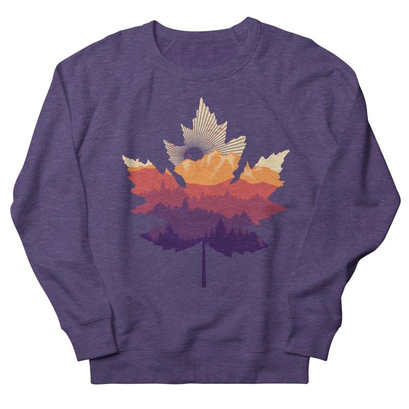 Leafscape Women's French Terry Sweatshirt by Dianne Delahunty's Artist Shop