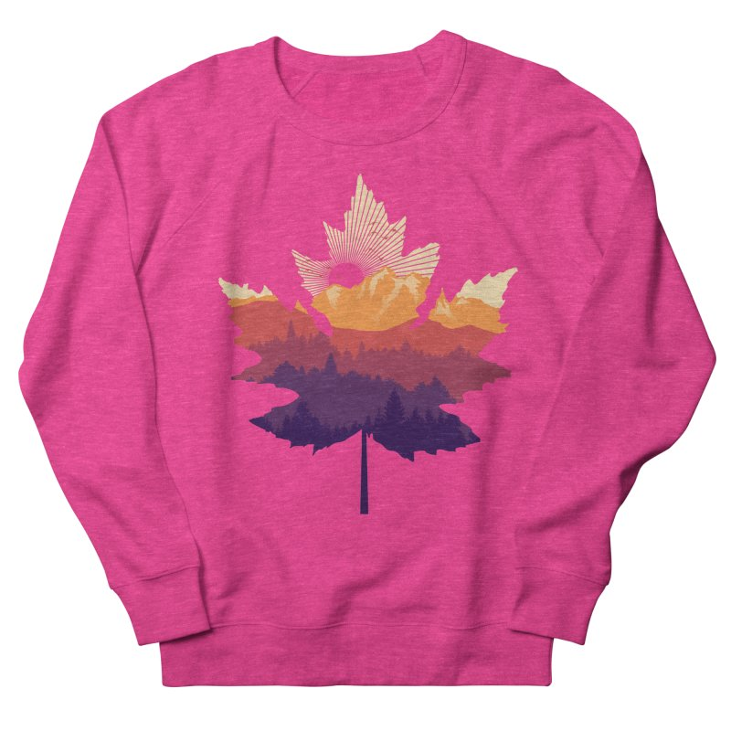 Leafscape Women's French Terry Sweatshirt by Dianne Delahunty's Artist Shop