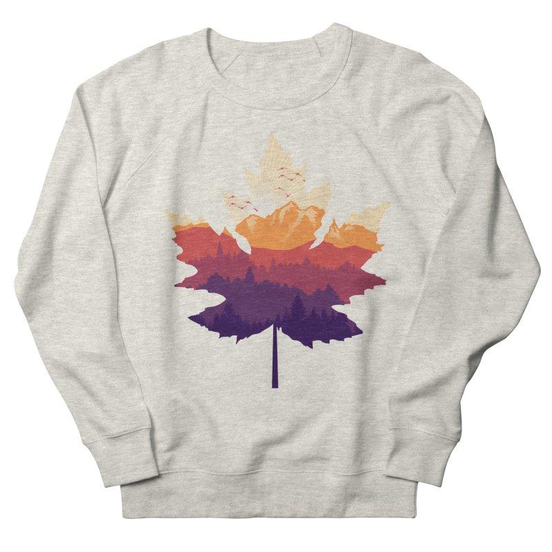Leafscape Men's French Terry Sweatshirt by Dianne Delahunty's Artist Shop