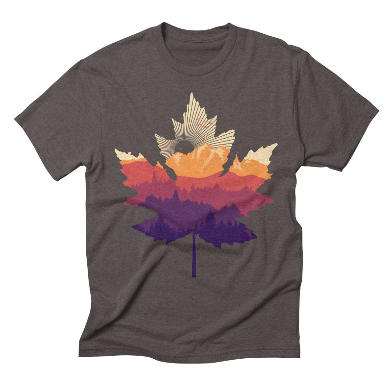Leafscape Men's Triblend T-Shirt by Dianne Delahunty's Artist Shop