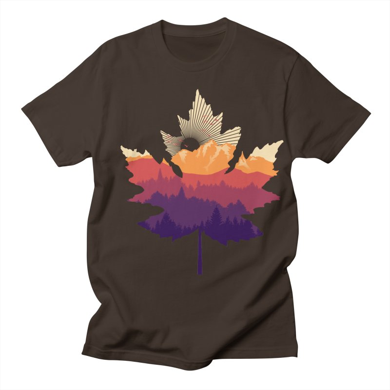 Leafscape Men's Regular T-Shirt by Dianne Delahunty's Artist Shop