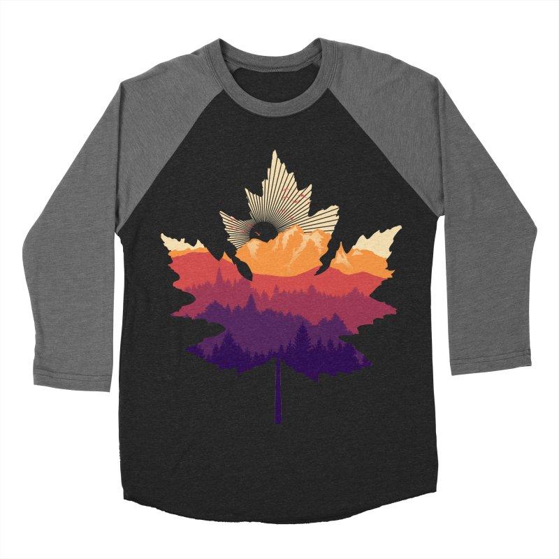 Leafscape Women's Baseball Triblend Longsleeve T-Shirt by Dianne Delahunty's Artist Shop