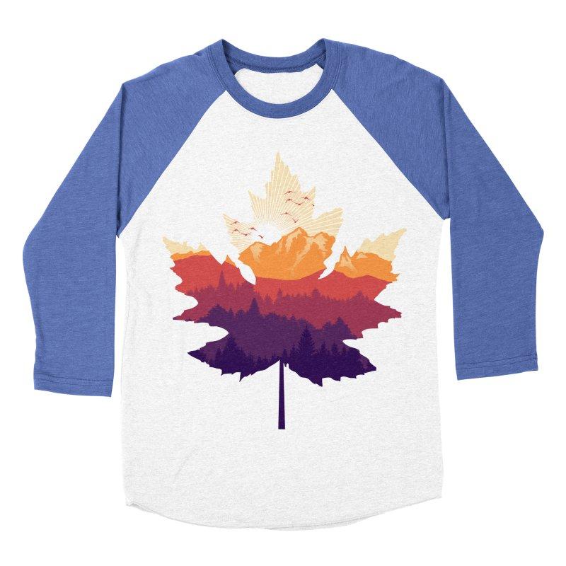 Leafscape Men's Baseball Triblend Longsleeve T-Shirt by Dianne Delahunty's Artist Shop