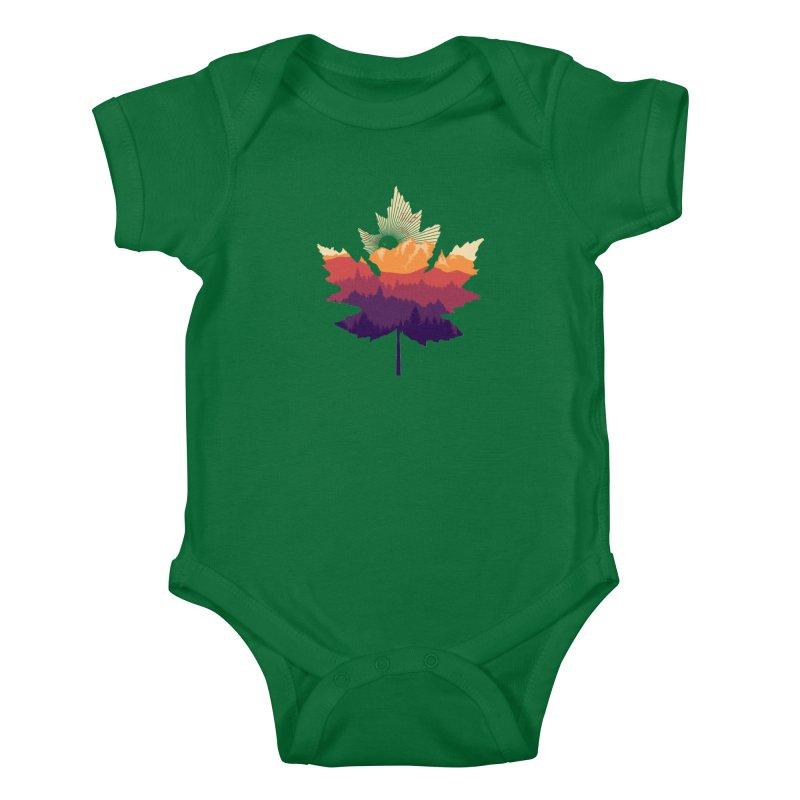 Leafscape Kids Baby Bodysuit by Dianne Delahunty's Artist Shop
