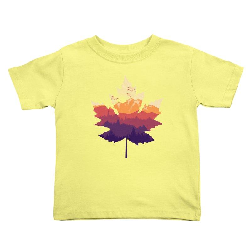 Leafscape Kids Toddler T-Shirt by Dianne Delahunty's Artist Shop