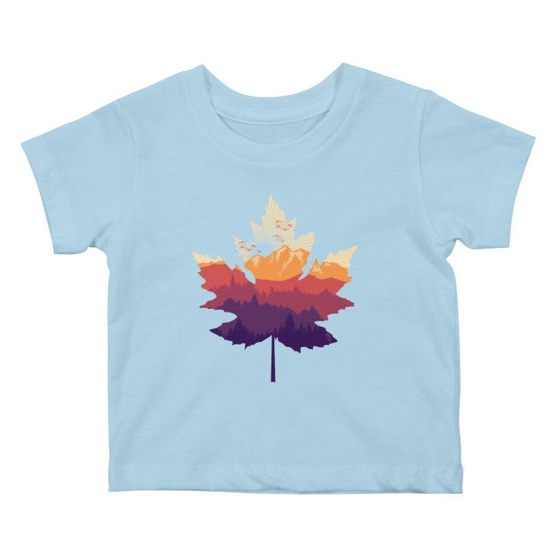 Leafscape Kids Baby T-Shirt by Dianne Delahunty's Artist Shop