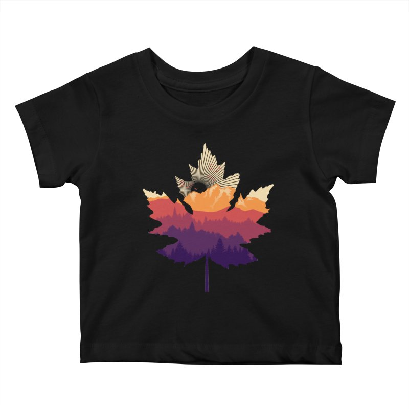 Leafscape Kids Baby T-Shirt by Dianne Delahunty's Artist Shop