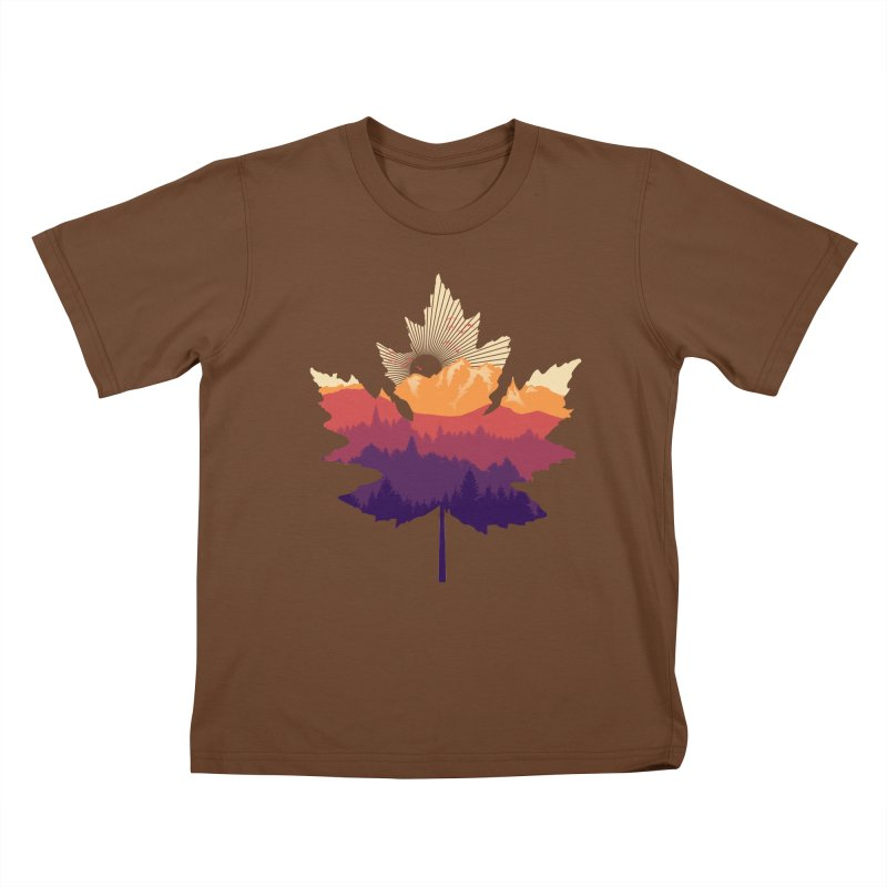 Leafscape Kids T-Shirt by Dianne Delahunty's Artist Shop