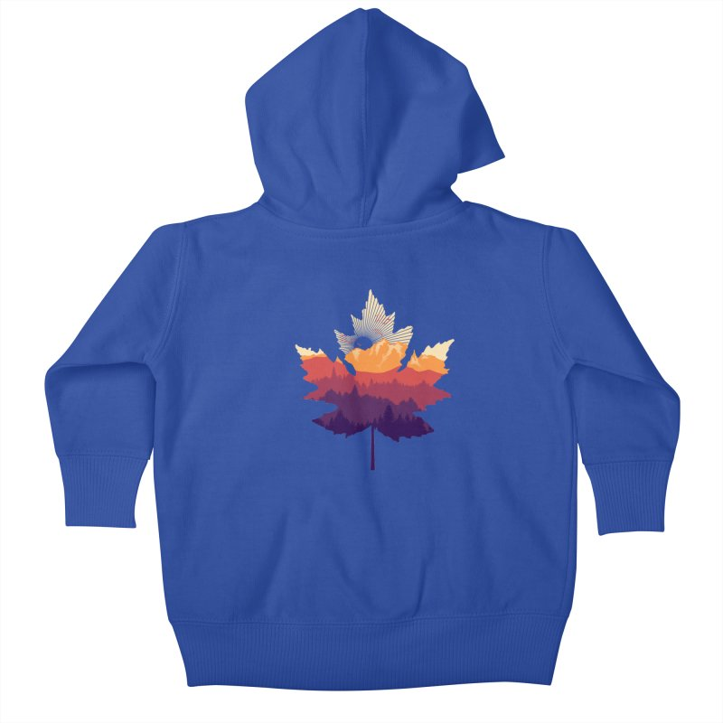 Leafscape Kids Baby Zip-Up Hoody by Dianne Delahunty's Artist Shop