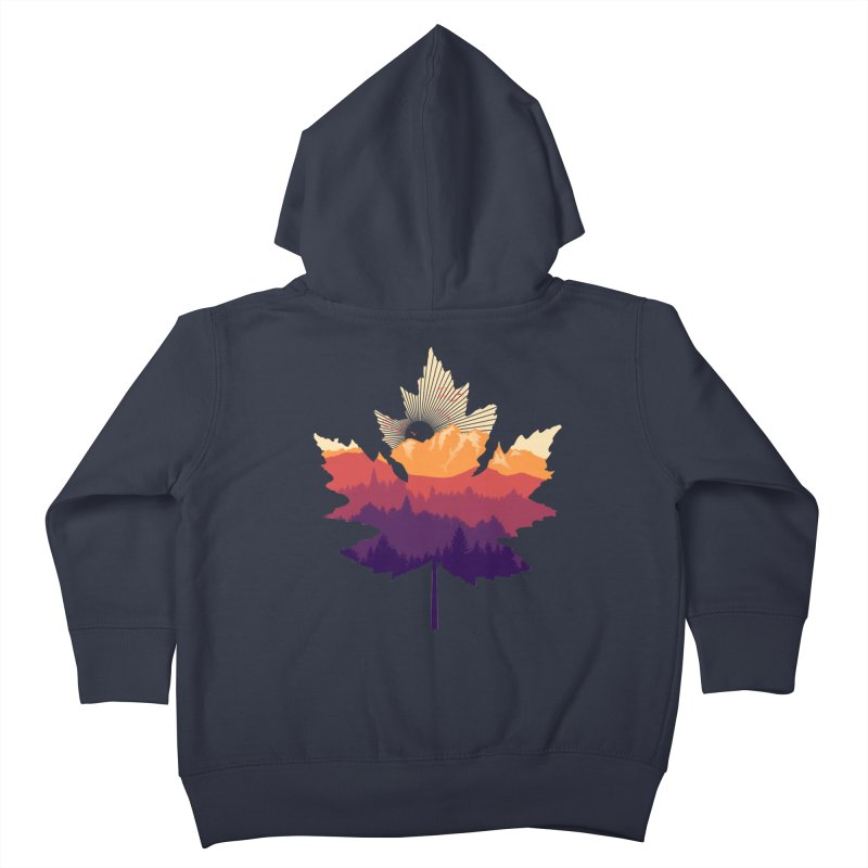 Leafscape Kids Toddler Zip-Up Hoody by Dianne Delahunty's Artist Shop