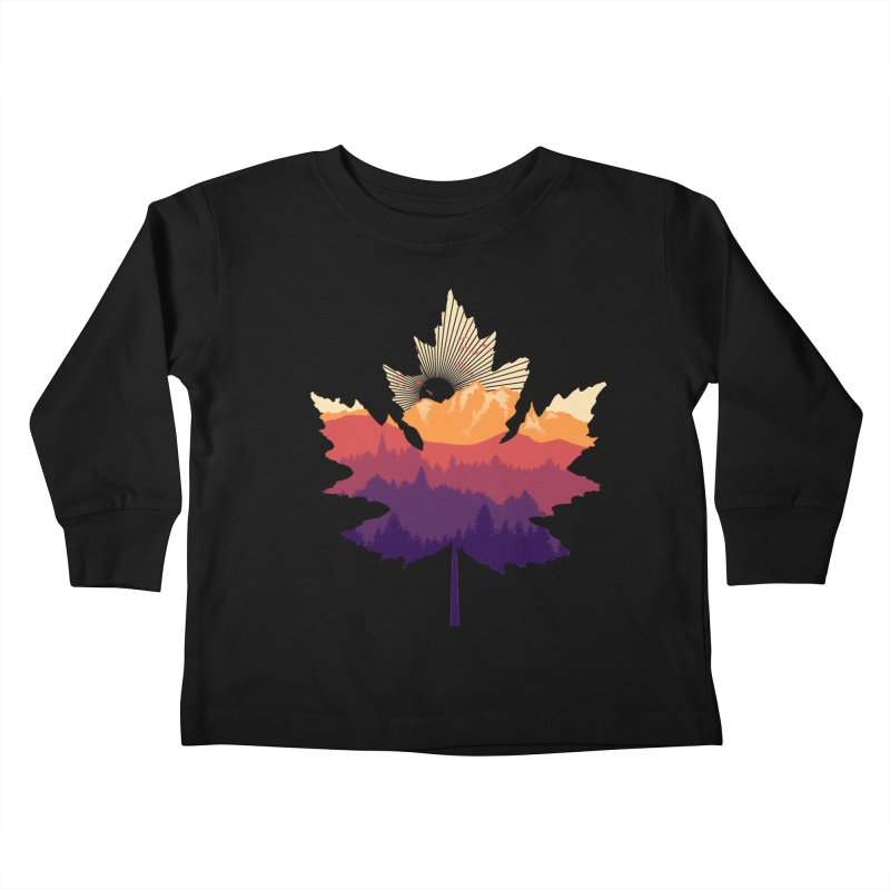 Leafscape Kids Toddler Longsleeve T-Shirt by Dianne Delahunty's Artist Shop