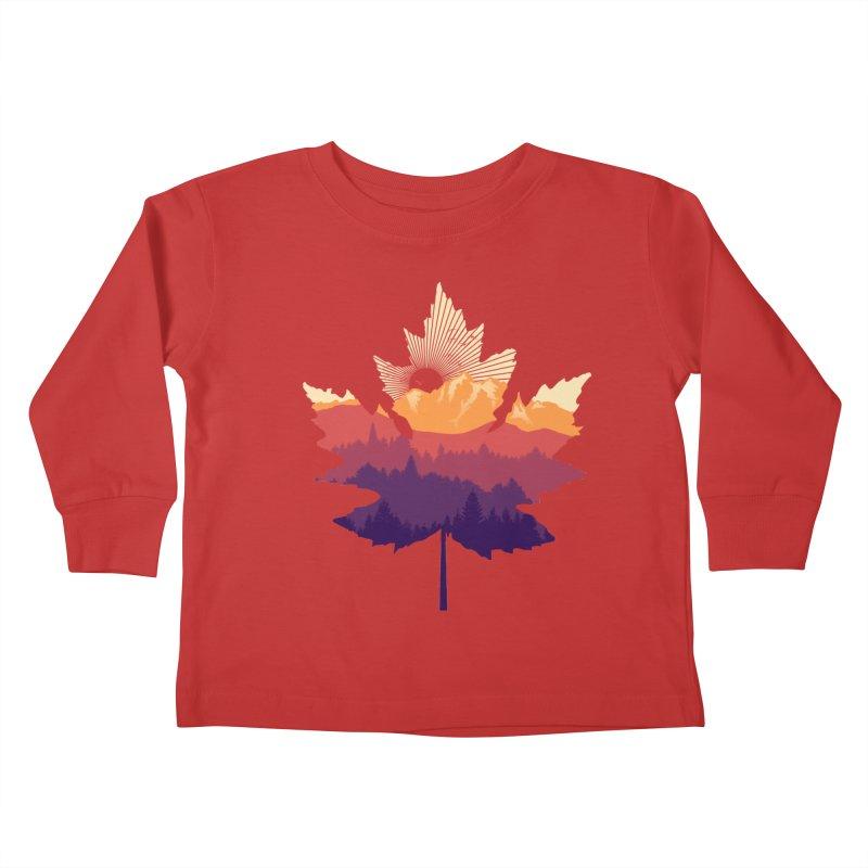 Leafscape Kids Toddler Longsleeve T-Shirt by Dianne Delahunty's Artist Shop
