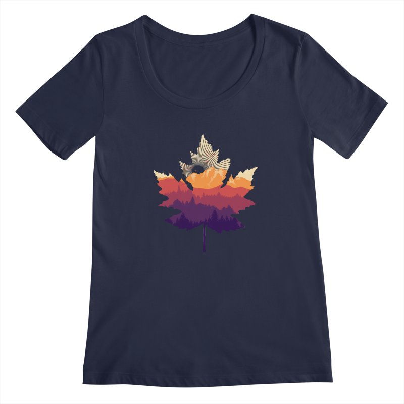 Leafscape Women's Regular Scoop Neck by Dianne Delahunty's Artist Shop