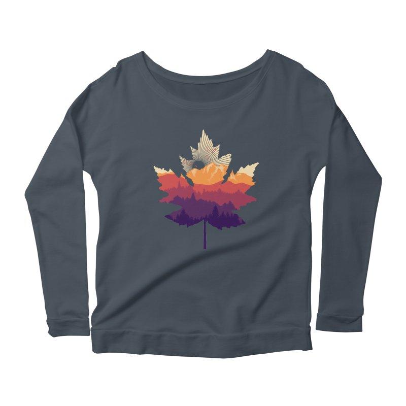 Leafscape Women's Scoop Neck Longsleeve T-Shirt by Dianne Delahunty's Artist Shop