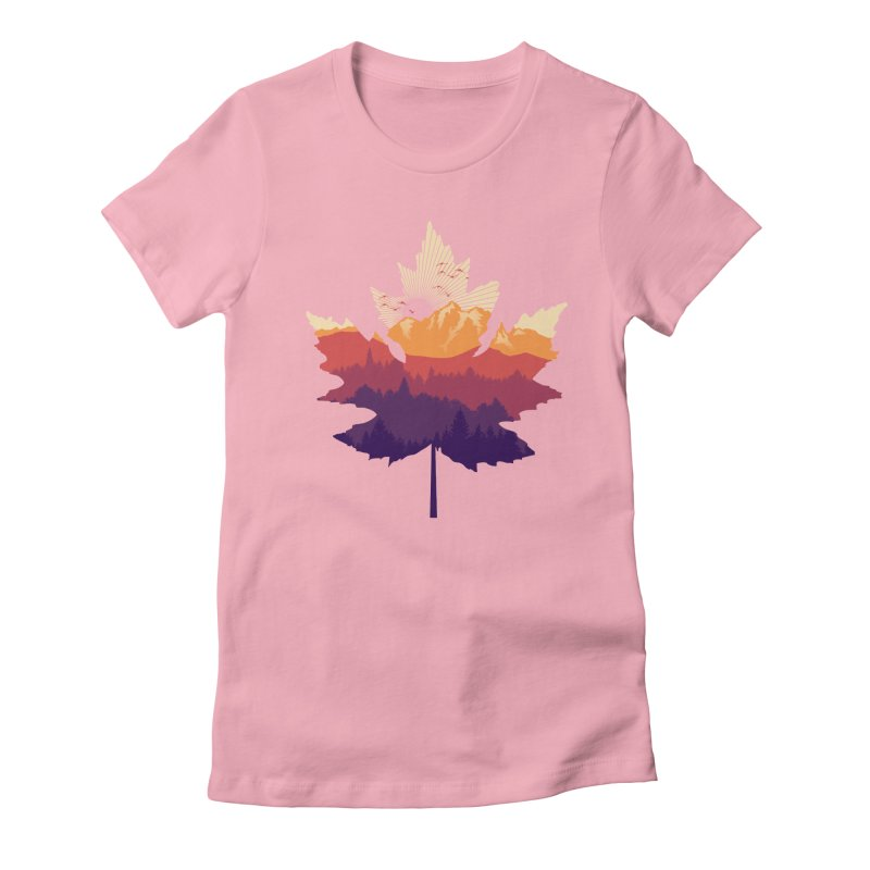 Leafscape Women's Fitted T-Shirt by Dianne Delahunty's Artist Shop