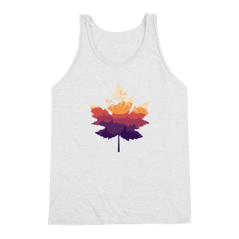 Leafscape Men's Triblend Tank by Dianne Delahunty's Artist Shop