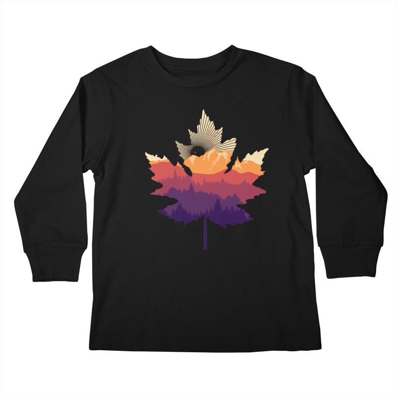 Leafscape Kids Longsleeve T-Shirt by Dianne Delahunty's Artist Shop
