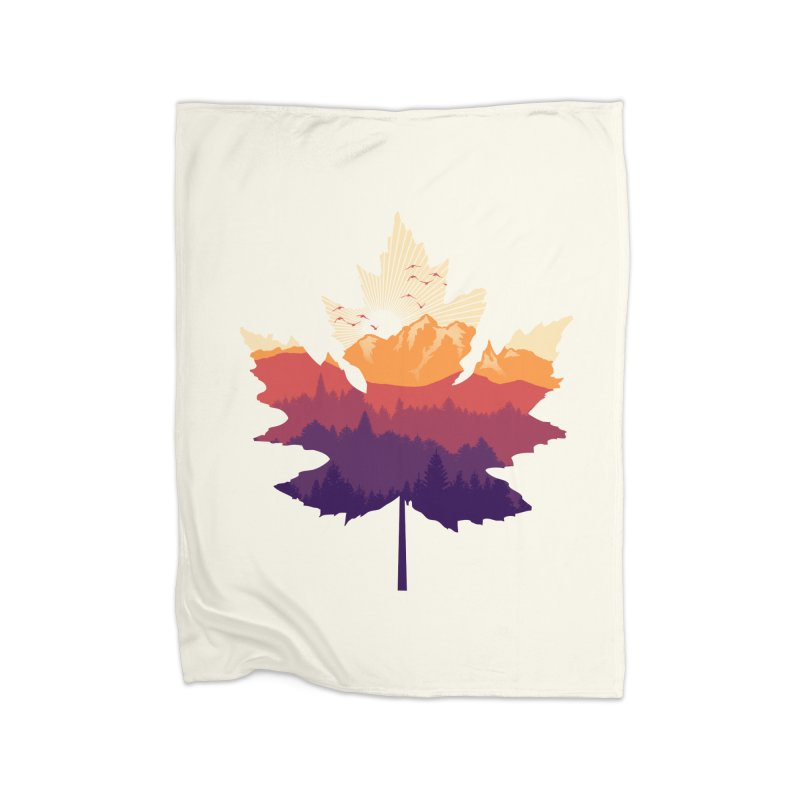 Leafscape Home Fleece Blanket Blanket by Dianne Delahunty's Artist Shop
