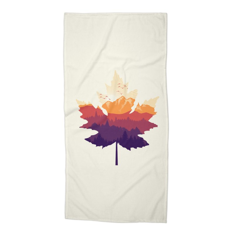 Leafscape Accessories Beach Towel by Dianne Delahunty's Artist Shop