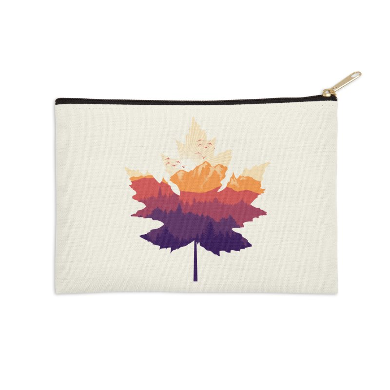 Leafscape Accessories Zip Pouch by Dianne Delahunty's Artist Shop