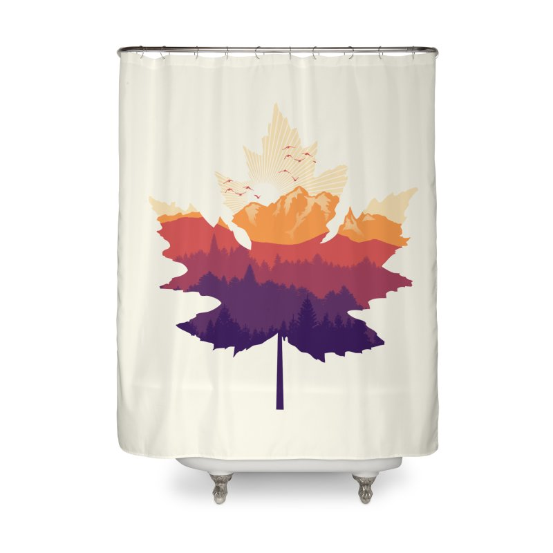 Leafscape Home Shower Curtain by Dianne Delahunty's Artist Shop