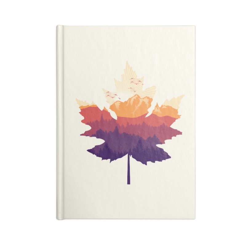 Leafscape Accessories Lined Journal Notebook by Dianne Delahunty's Artist Shop