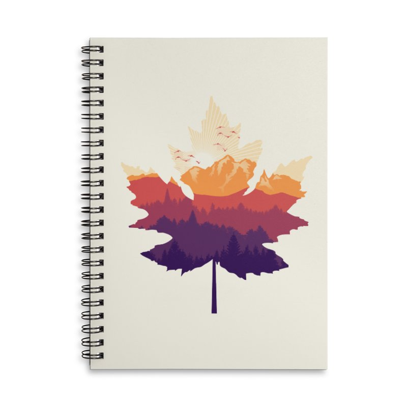 Leafscape Accessories Lined Spiral Notebook by Dianne Delahunty's Artist Shop