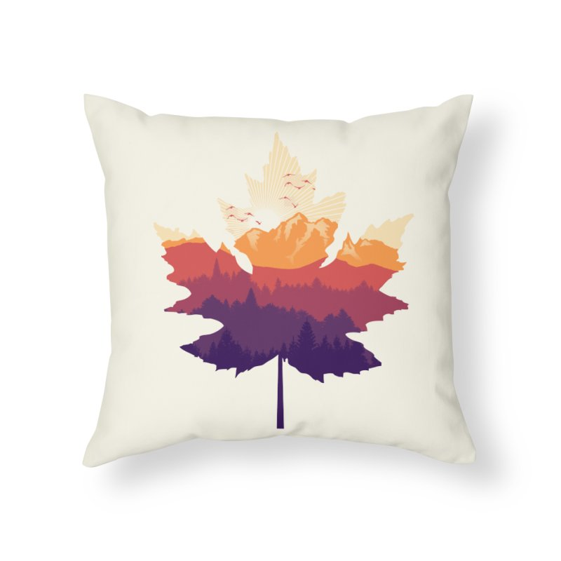 Leafscape Home Throw Pillow by Dianne Delahunty's Artist Shop