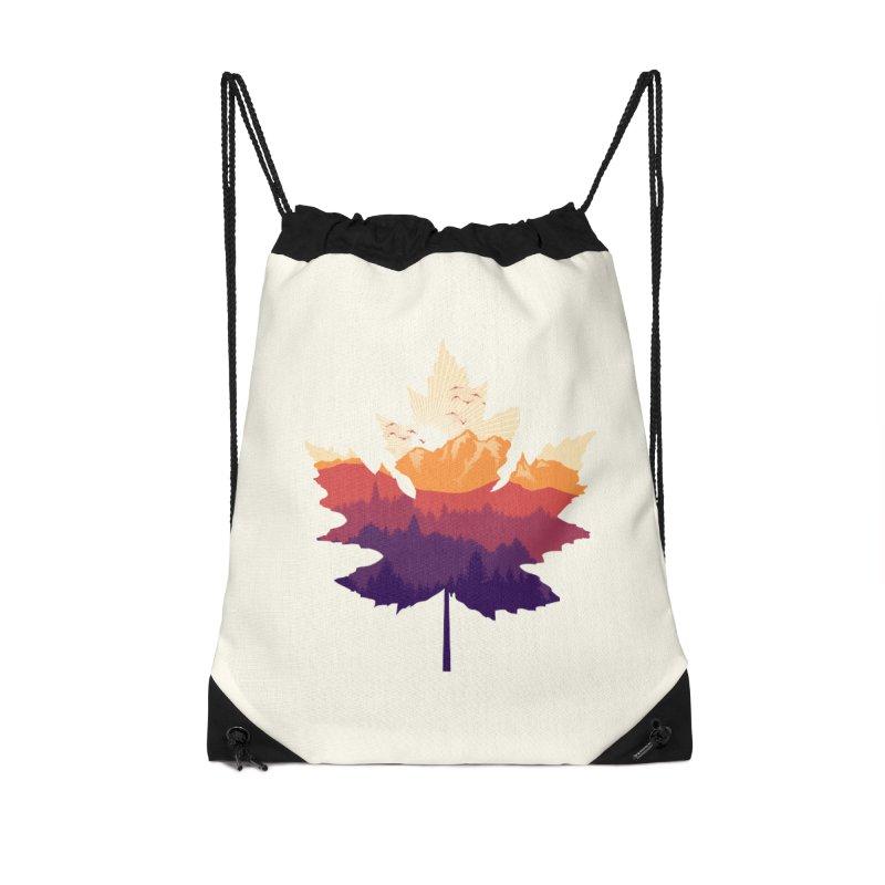 Leafscape Accessories Drawstring Bag Bag by Dianne Delahunty's Artist Shop