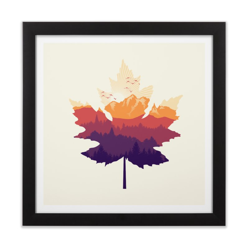Leafscape Home Framed Fine Art Print by Dianne Delahunty's Artist Shop