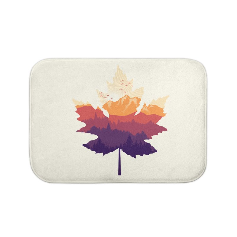 Leafscape Home Bath Mat by Dianne Delahunty's Artist Shop