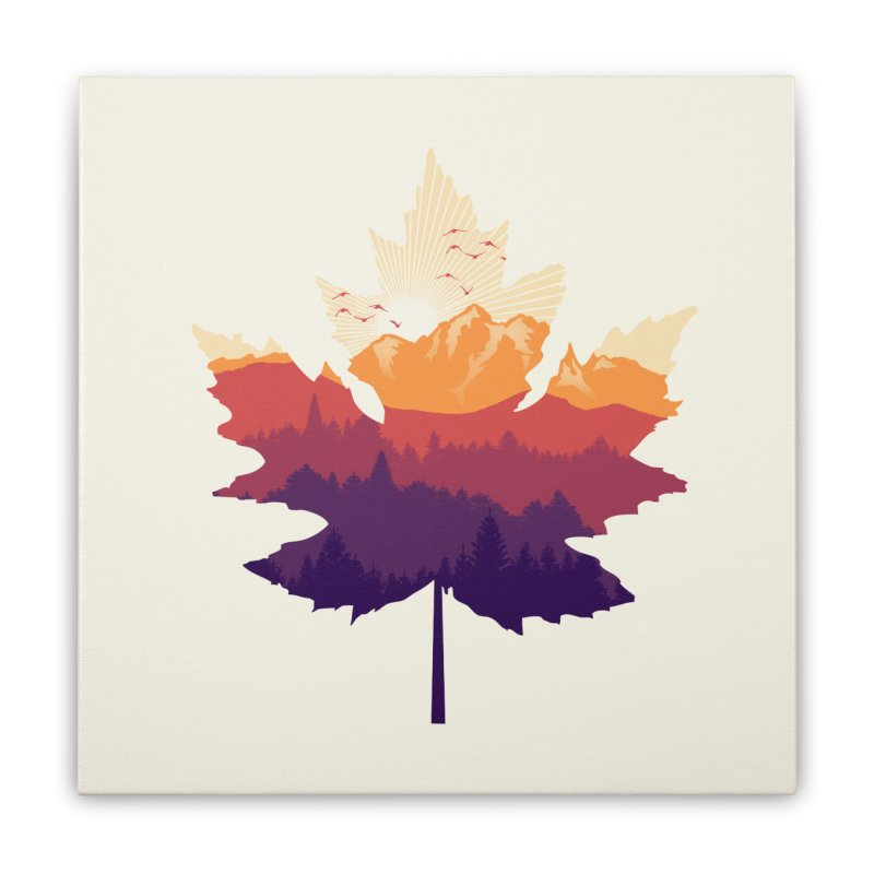 Leafscape Home Stretched Canvas by Dianne Delahunty's Artist Shop