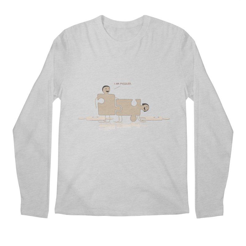 Solving the puzzle, gone wrong. Men's Longsleeve T-Shirt by Diardo's Design Shop