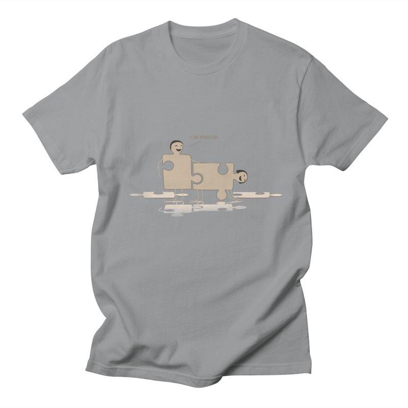 Solving the puzzle, gone wrong. Men's T-shirt by Diardo's Design Shop