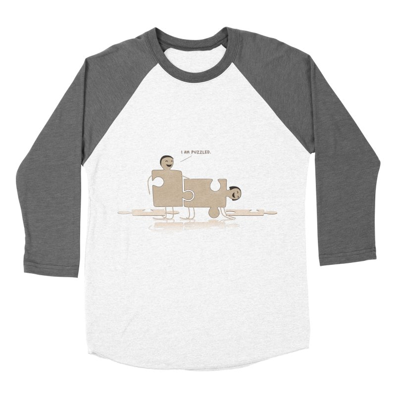 Solving the puzzle, gone wrong. Men's Baseball Triblend Longsleeve T-Shirt by Diardo's Design Shop