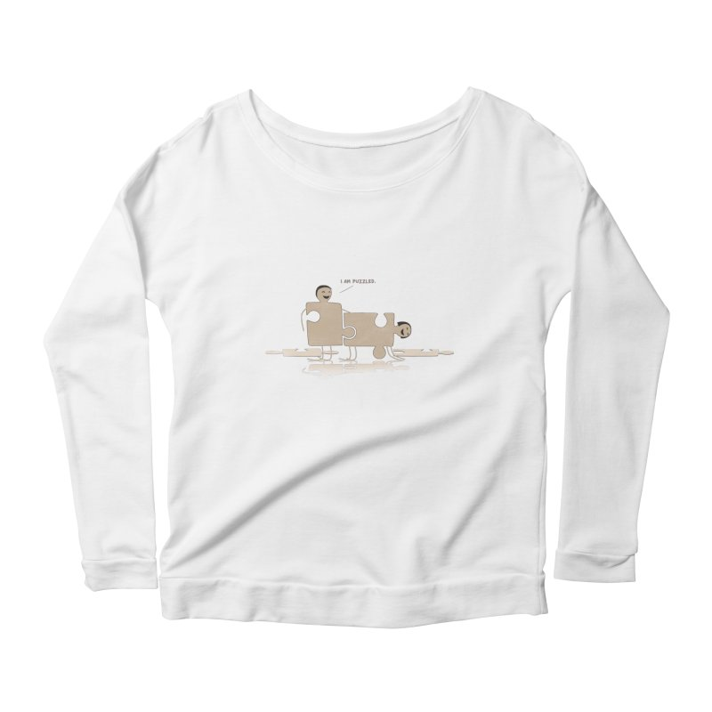Solving the puzzle, gone wrong. Women's Longsleeve Scoopneck  by Diardo's Design Shop