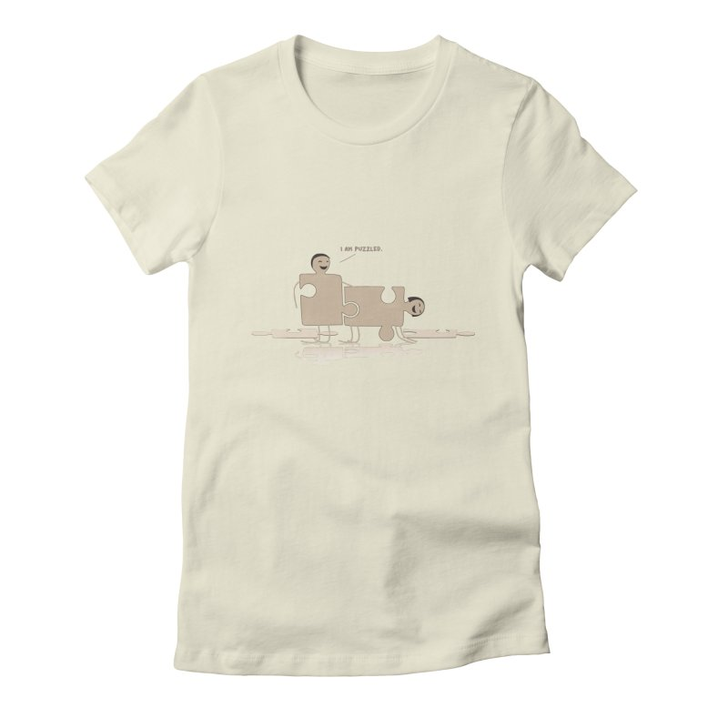 Solving the puzzle, gone wrong. Women's Fitted T-Shirt by Diardo's Design Shop