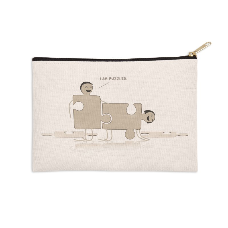 Solving the puzzle, gone wrong. Accessories Zip Pouch by Diardo's Design Shop