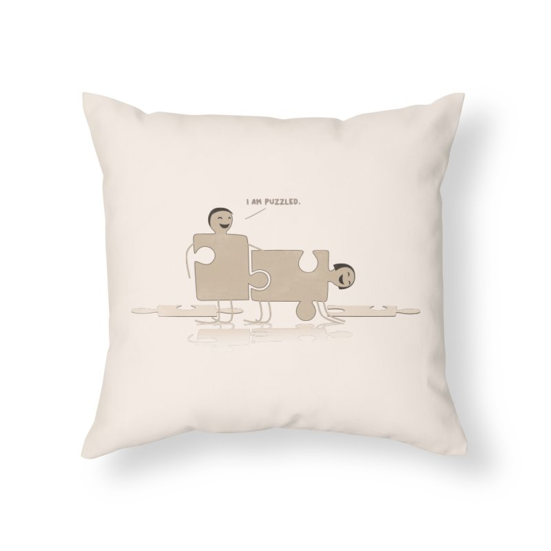 Solving the puzzle, gone wrong. Home Throw Pillow by Diardo's Design Shop
