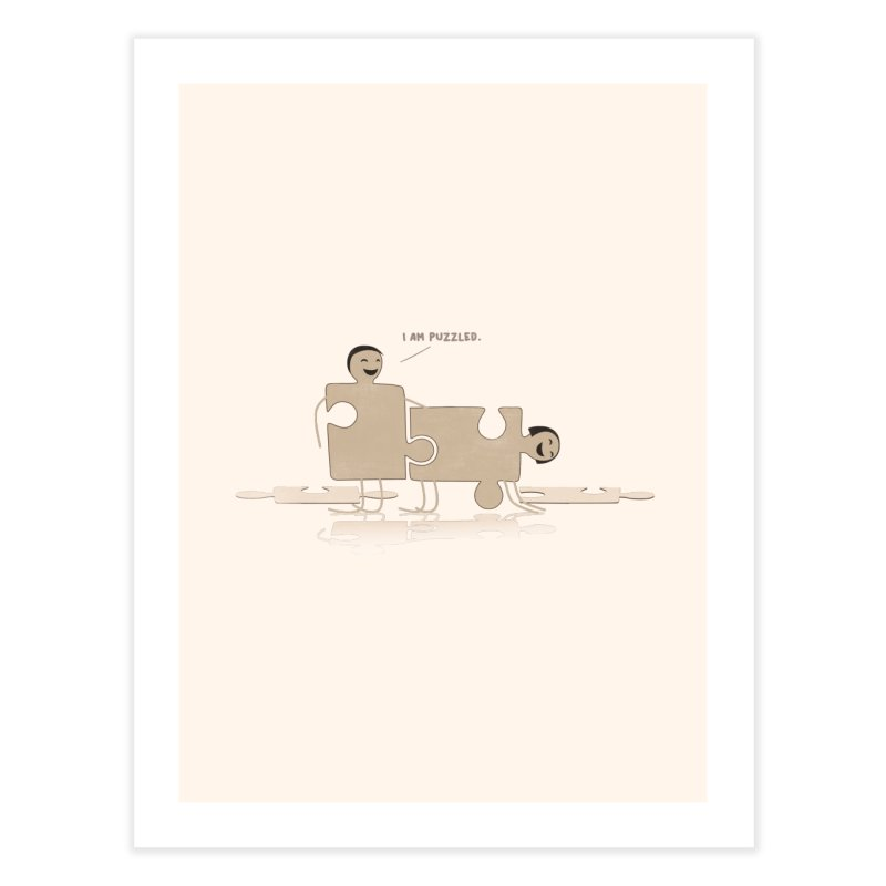 Solving the puzzle, gone wrong. Home Fine Art Print by Diardo's Design Shop