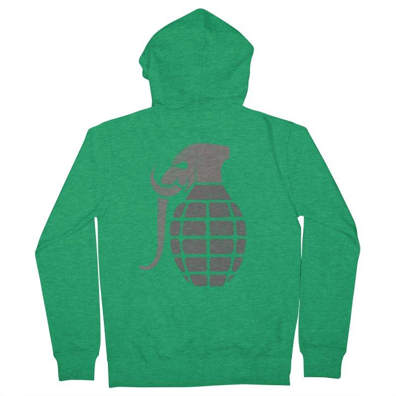 Elephant Grenade Men's Zip-Up Hoody by Diardo's Design Shop