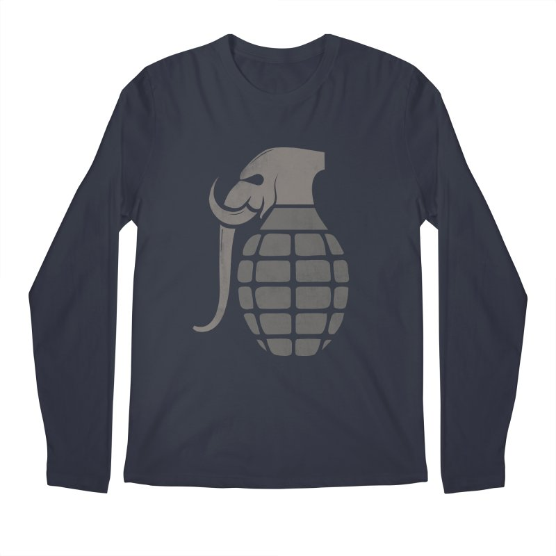 Elephant Grenade Men's Longsleeve T-Shirt by Diardo's Design Shop