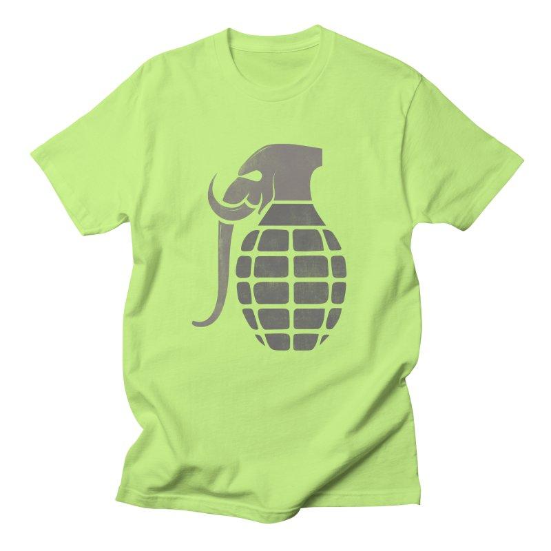 Elephant Grenade Men's T-shirt by Diardo's Design Shop