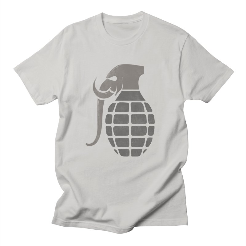 Elephant Grenade Men's T-Shirt by Diardo's Design Shop